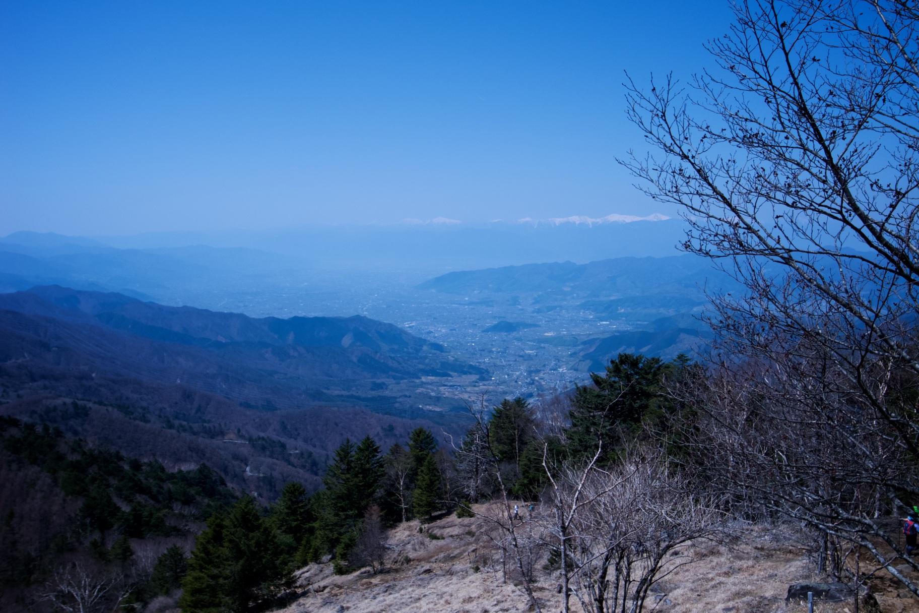 大菩薩嶺から見る南アルプス