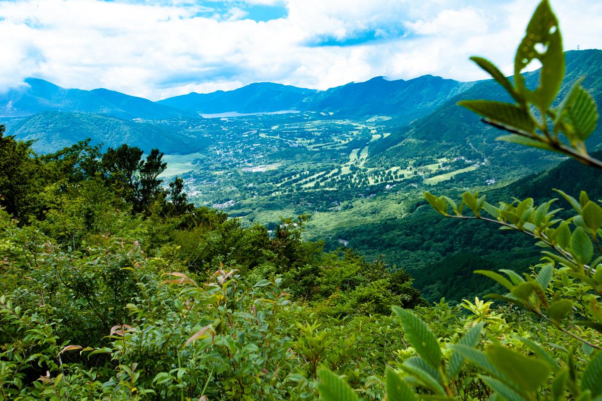 山頂からの眺め 金時山