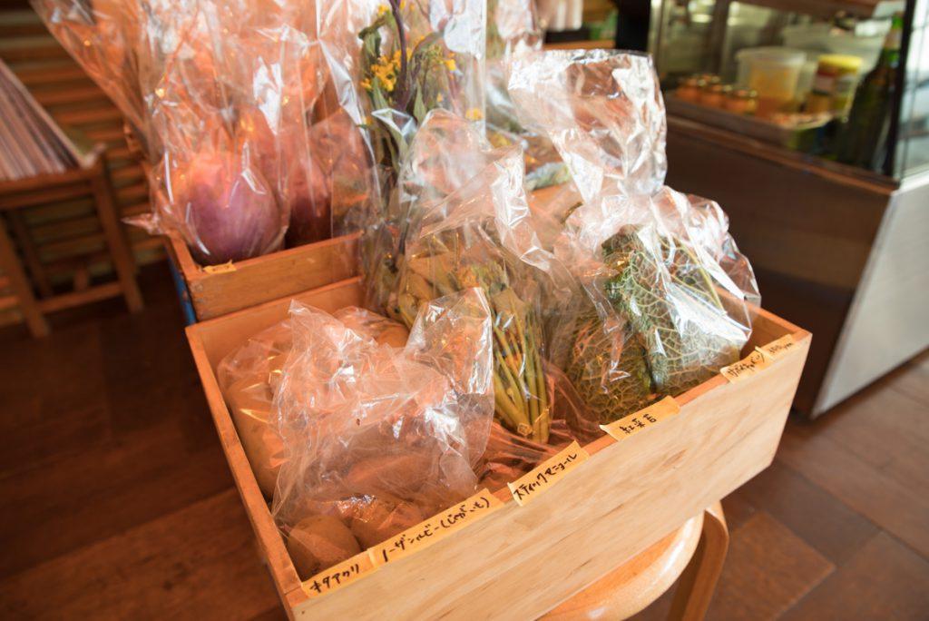 キレド店舗の野菜