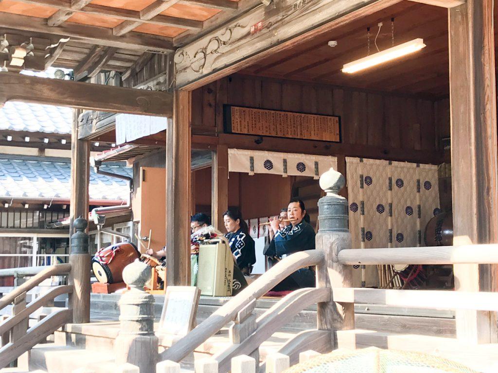 菊田神社の節分祭の余興