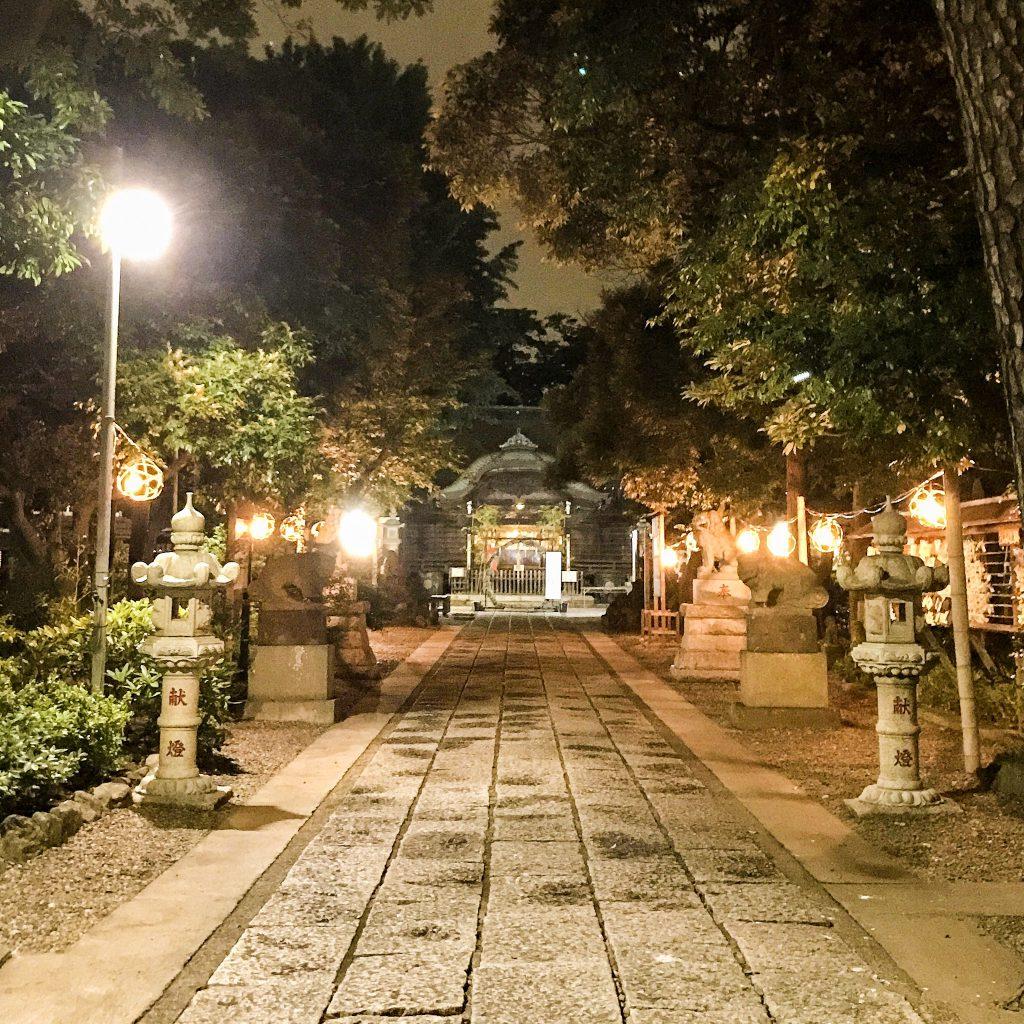 菊田神社の夜散歩_01